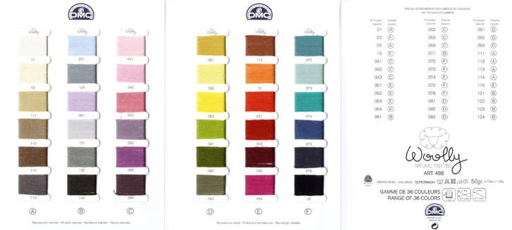 DMC Colour Card