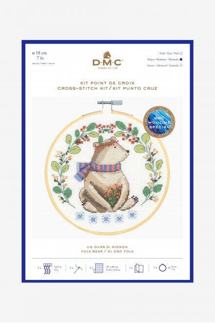 DMC Folk Bear Cross-Stitch Kit