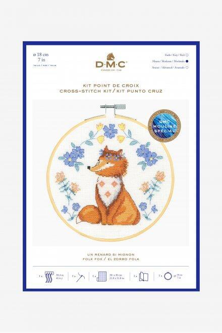 DMC Folk Fox Cross-Stitch Kit