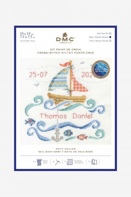 DMC Sail Boat Baby Cross Stitch Kit