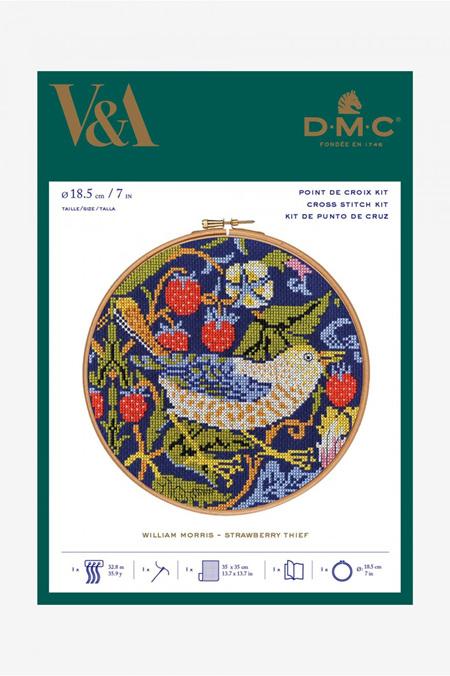 DMC Strawberry Thief Cross Stitch Kit