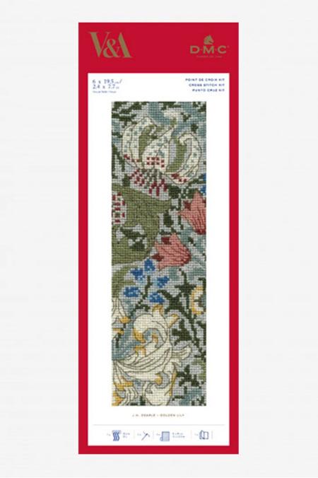 DMC V&A Golden Lily Bookmark Kit