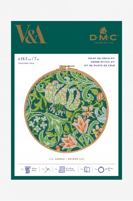 DMC V&A Golden Lily Hoop Kit