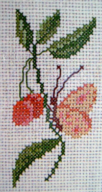DMCT881K  Cherries and Butterfly