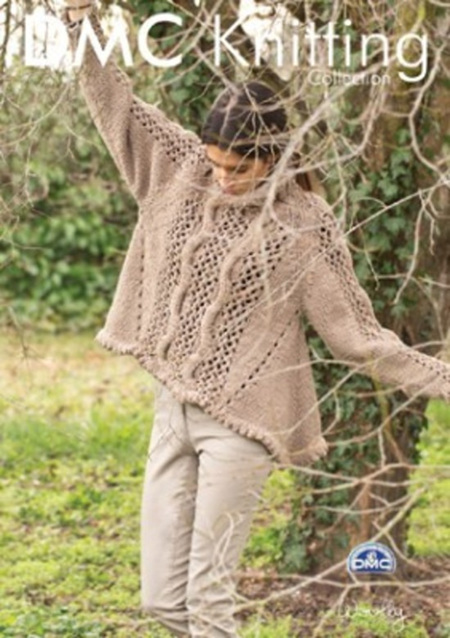 DMF15203L2  DMC Woolly Knitting Pattern - Lacy Pullover