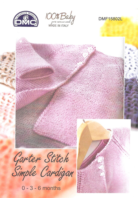DMF15802L Garter Stitch Simple Cardigan