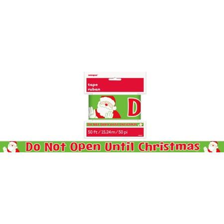 Do not open till Christmas - caution tape 15m