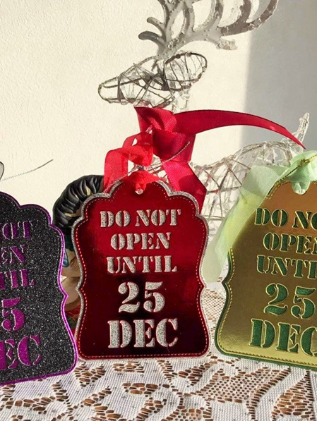 Do Not Open Until 25 Dec Tags