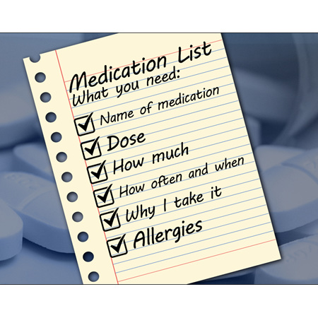 Do you have an up-to-date medicine list?