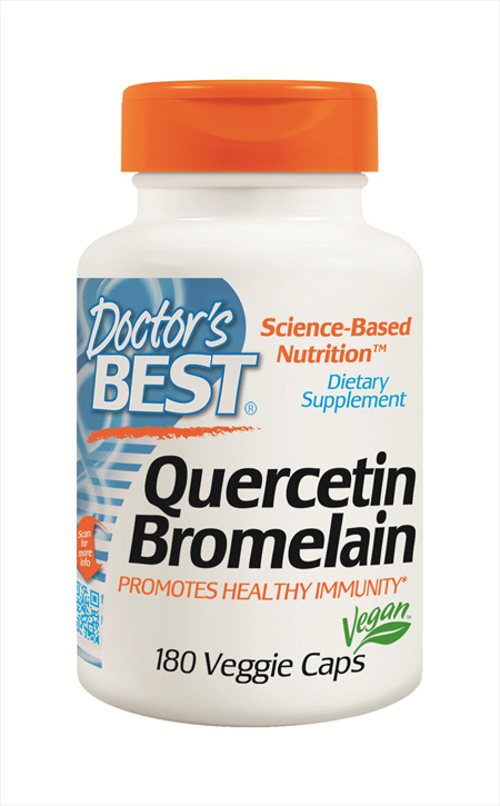 Doctor's Best QUERCETIN BROMELAIN - 180 veggie capsules