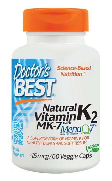 Doctor's Best Vitamin K2 MenaQ7 45mcg  60 capsules