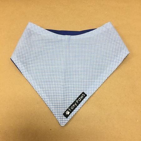 Dog Bandana - small to medium - Blue & White Check