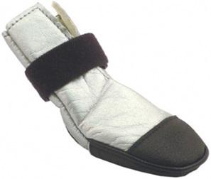 Dog Boot Nylon Silver