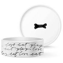 Dog Bowl - Eat play Love L