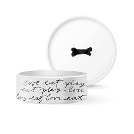 Dog Bowl - Eat play Love L