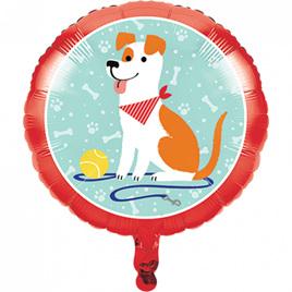 Dog foil balloon.