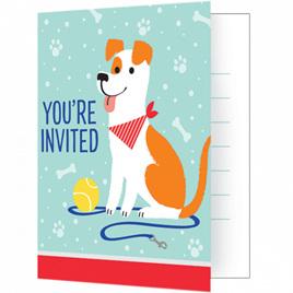 Dog invites x 8