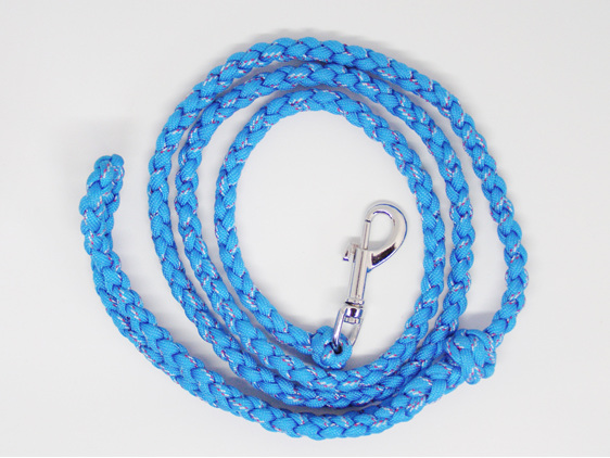 Dog lead, blue, red and white
