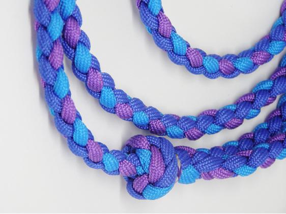 Dog lead, purple, light blue, dark blue