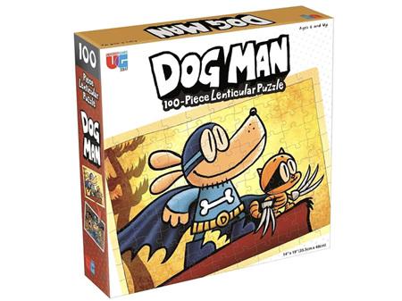 Dog Man 100 Piece Lenticular Puzzle