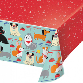 Dog party tablecover