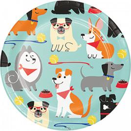 Dog plates x 8.
