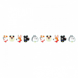 Dog shapes party banner