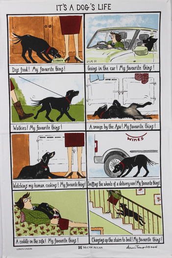 Dogs Life & Dogs Rules Tea Towels