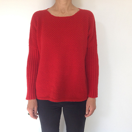 Dolman Textured Sweater - Adults Pattern by Broadway Yarns