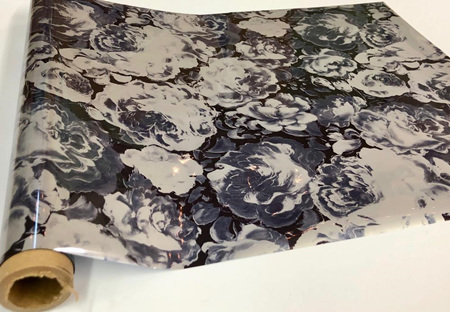 Dominic Grey Flowers Foil