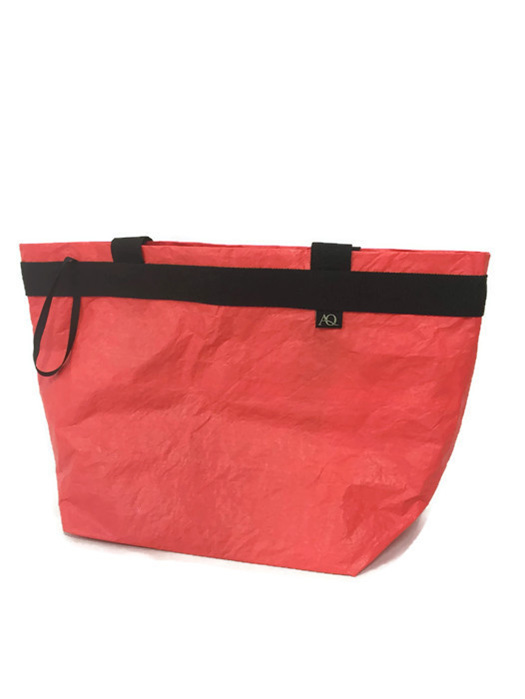 Dongfeng sail shopping bag from Volvo Ocean race, all red