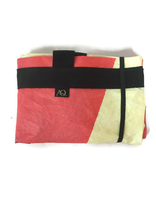 Dongfeng sail shopping bag from Volvo Ocean race, folded up