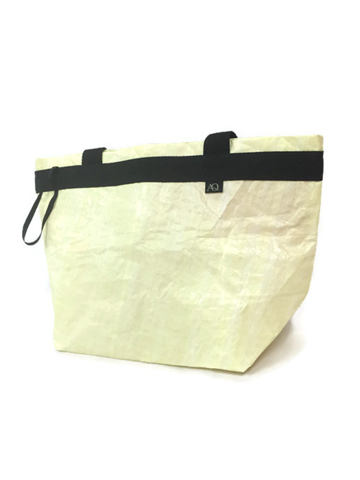 Dongfeng sail shopping bag from Volvo Ocean race in  a creamy gold