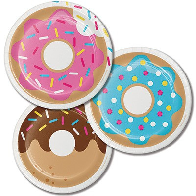 Donut Time plates x 8