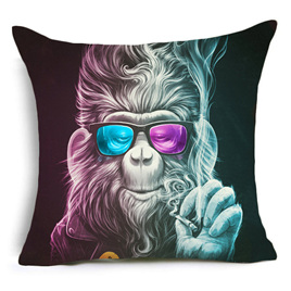 DOPED UP FUNKY MONKEY CUSHION COVER