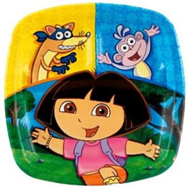 Dora the Explorer - Sectioned Plate