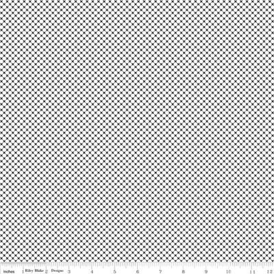 Dot & Dash - Black Mini Cross on White