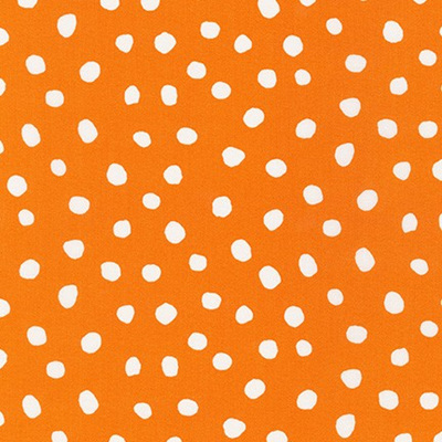 Dot & Stripe Delight - Orange Dot