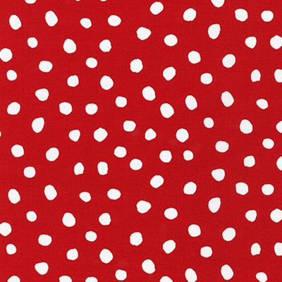 Dot & Stripe Delight - Red Dot