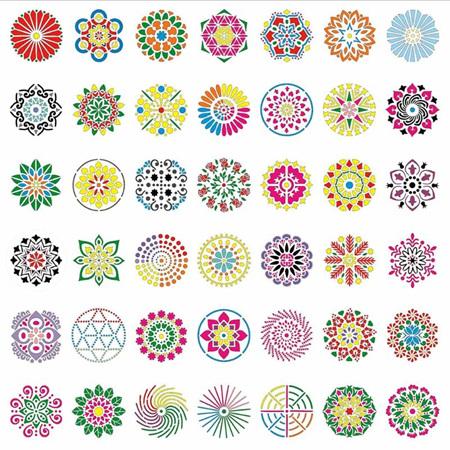Dotting Stencils - Round Set