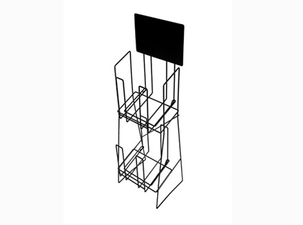 Double A4 Brochure Display Stand Wire