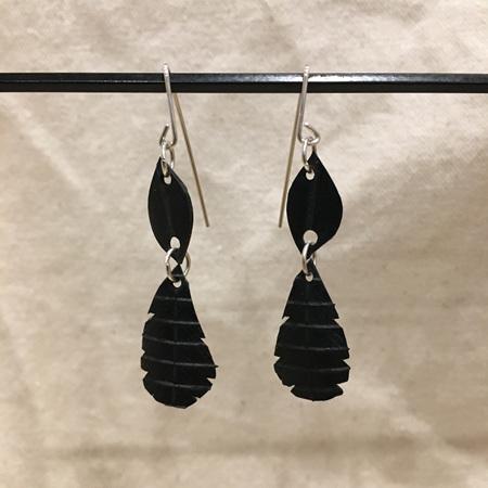 Double Drop Earrings - Sterling Silver Hooks