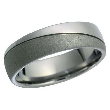 Double Finish Titanium Ring