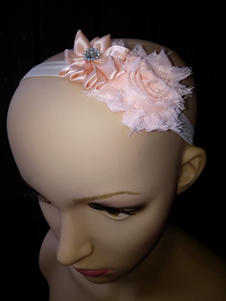 Double Flower Hairband - Apricot
