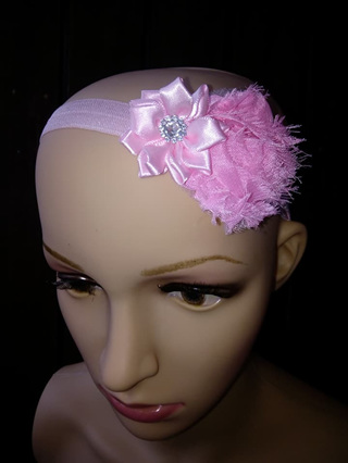 Double Flower Hairband - Pink