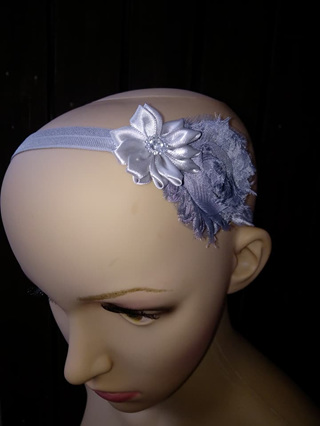 Double Flower Hairband - Silver
