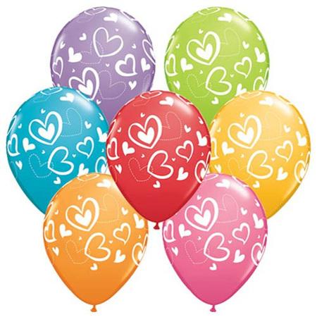 Double heart balloon