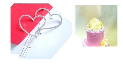 Double Heart Cake Topper