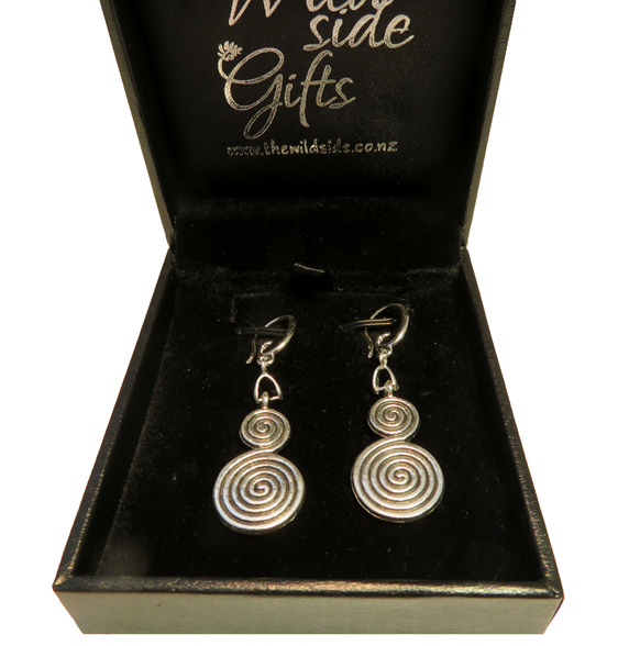 double koru earrings