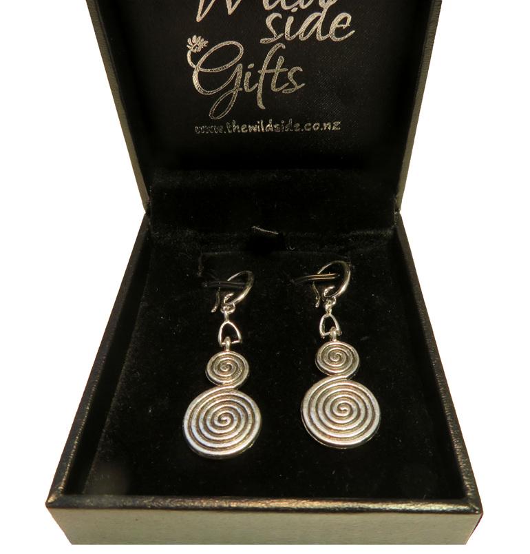 double koru earrings